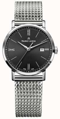 Maurice Lacroix Womens Eliros Milanais Stainless Steel Strap Black Dial EL1084-SS002-313-1