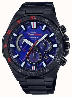 Casio Edifice Toro Rosso Black IP Plated Blue Dial Chrono EFR-563TR-2AER
