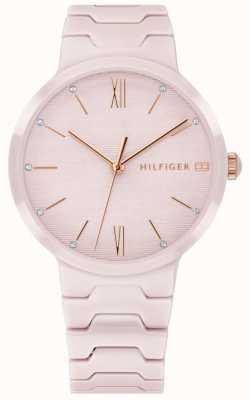 Tommy Hilfiger Women's Pink Ceramic Bracelet Avery Watch 1781957