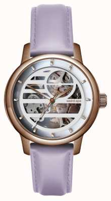Weird Ape Rosalind White Rose Gold/ Lilac Leather Strap WA02-005841