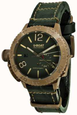 U-Boat Doppio Tempo 46 Bronzo GR Automatic Green Leather Strap 9088