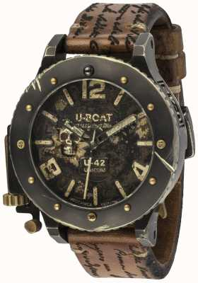 U-Boat U-42 Unicum Vintage Look Automatic Brown Leather Strap 8188