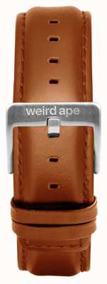 Weird Ape Tan Leather 20mm Strap Silver Buckle ST01-000100