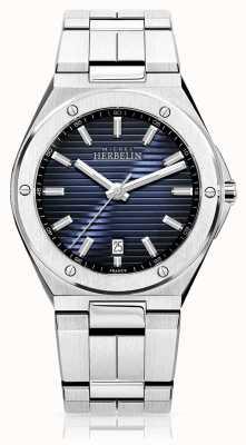 Michel Herbelin Mens Stainless Steel Watch Blue Dial 12245/B15