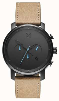 MVMT Chrono 45mm Gunmetal Sandstone | Brown Strap | Black Dial D-MC01GML