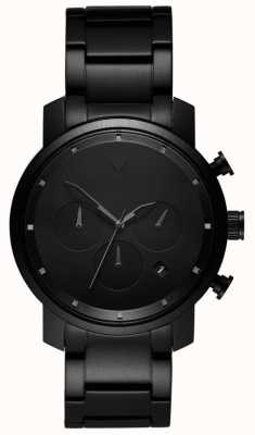 MVMT Mens Chrono 40mm Black Link MC02-BB