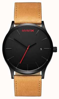 MVMT Classic Black Tan | Brown Leather Strap | Black Dial D-L213.5L.351