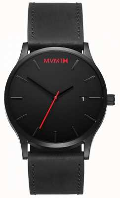 MVMT Mens Classic Black Leather L213.5L.551