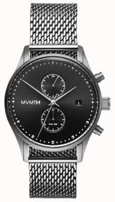 MVMT Voyager Sterling | Stainless Steel Mesh | Black Dial D-MV01-S2
