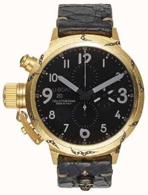 U-Boat Mens Flightdeck 50 Hera Gold Case 7391