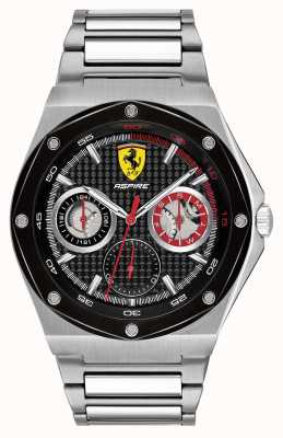 Scuderia Ferrari Mens Aspire Stainless Steel Black Dial Date Display 0830535