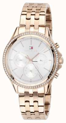 Tommy Hilfiger Women's Rose Gold Plated Crystal Set Multi-function 1781978