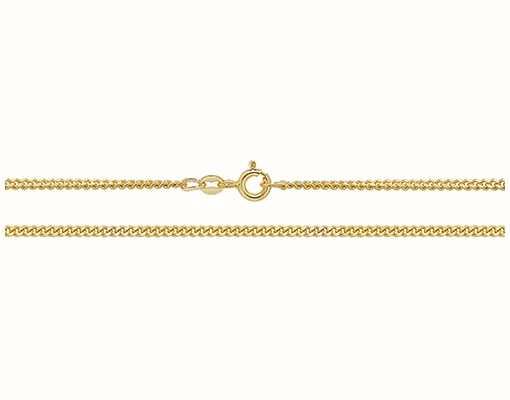 "Treasure House 9k Yellow Gold Close Curb Chain 16"" Ch164/16"