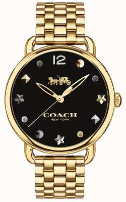 Coach Womens Delancey Watch Gold Tone Bracelet 14502813
