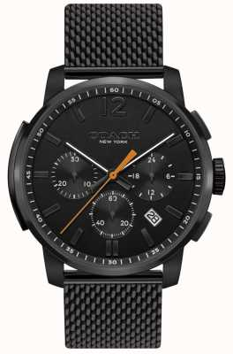 Coach Mens Bleecker Multifunction Chrono Watch | Black Mesh Strap 14602344