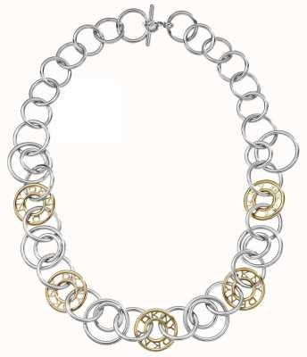 DKNY Ladies Two-tone Silver And Gold Necklace NJ1950040