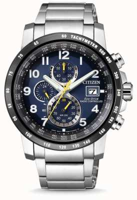 Citizen Mens Eco-Drive Radio Controlled Chronograph World Timer AT8124-91L