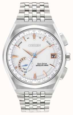 Citizen Mens Satellite Wave Eco-Drive Stainless Steel Silver Dial CC3020-57A