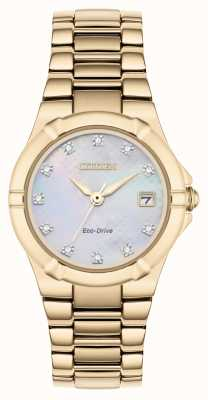 Citizen Womens Eco-Drive Diamond Dial Rose Gold Plated EW1533-50D