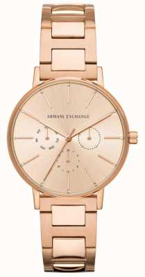 Armani Exchange Lola Womens Rose Gold PVD Plated AX5552