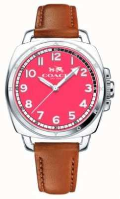 Coach Womens Boyfriend Bright Pink Dial Watch 14502156