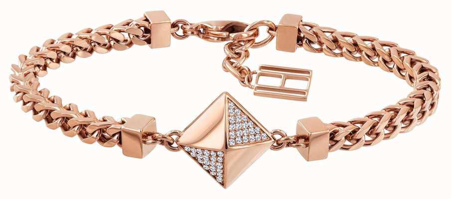 Tommy Hilfiger Stone Set Box Bracelet Rose Gold Tone 2780092