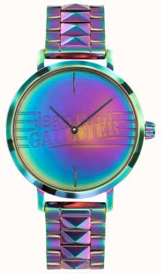 Jean Paul Gaultier Bad Girl Womens Purple Rainbow Effect Metal Watch JP8505706
