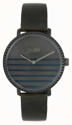 Jean Paul Gaultier Womens Glam Navy Gunmental Mesh Bracelet Watch 8505602
