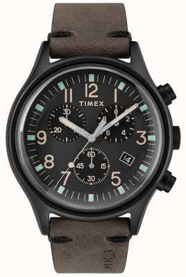 Timex Mens MK1 SST Chrono 42mm Black Case Black Dial TW2R96500