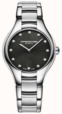 Raymond Weil Womens Noemia Black Diamond Set Dial 5132-ST-20081