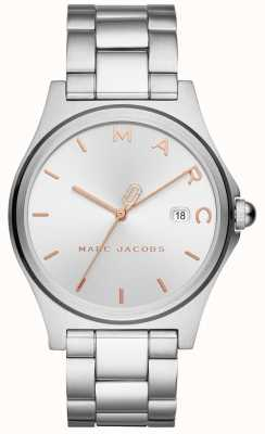 Marc Jacobs Womens Henry Watch Silver Tone MJ3583