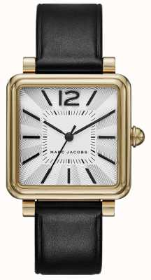 Marc Jacobs Womens Vic Watch Black Leather Square Dial MJ1437