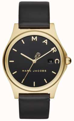 Marc Jacobs Womens Henry Watch Black Leather Strap MJ1608