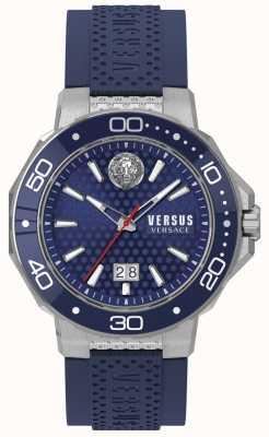 Versus Versace Mens Kalk Bay Stainless Steel Bracelet Blue Dial VSP05020018