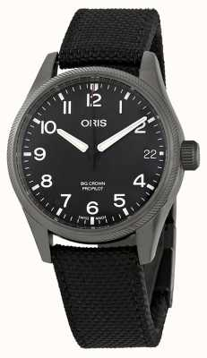Oris Mens Big Crown ProPilot Big Date Black Canvas Strap 01 751 7697 4264-07 5 20 15 GFC