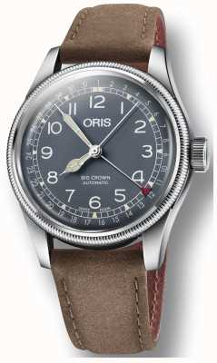 Oris Big Crown Pointer Date Brown Leather Strap 01 754 7741 4065-07 5 20 63
