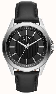 Armani Exchange Mens Dress Watch | Black leather strap | AX2621