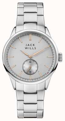 Jack Wills Mens Forster Silver Dial Stainless Steel Bracelet JW004SLSL