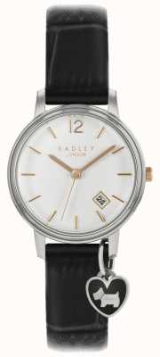 Radley Ladies Small Watch Silver Case Black Strap RY2717