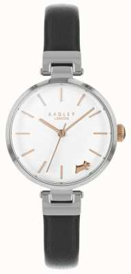 Radley Ladies Watch Silver Case Black Leather Strap RY2715