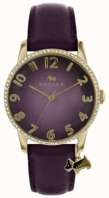 Radley Ladies Purple Watch With Gold Case RY2726