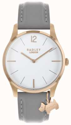 Radley Ladies Watch Rose Gold Case Ash Strap RY2712