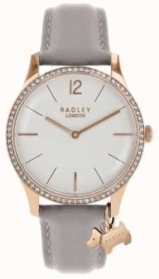 Radley Ladies Watch Rose Gold Case Ash Leather Strap RY2702