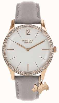 Radley Ladies Watch Rose Gold Case Ash Leather Strap RY2702