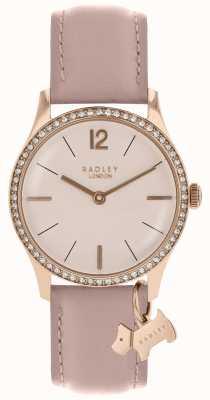 Radley Ladies Watch Rose Gold Case Cobweb Leather Strap RY2700