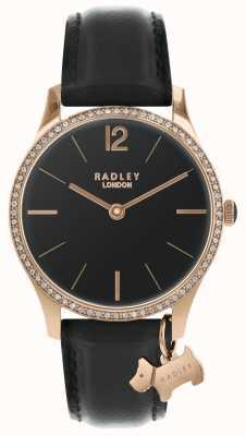 Radley Ladies Black Satin Watch RY2704