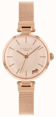 Radley Ladies Watch Rose Gold Case Mesh Bracelet RY4360