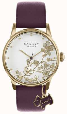Radley Ladies Watch Purple Floral Leather Strap RY2688