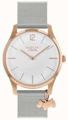 Radley Ladies Watch | Rose Gold Case | Stainless Steel Mesh Strap | RY4355