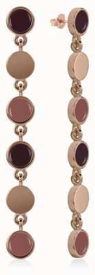 Radley Jewellery Enamel Drop Earrings Rose Gold Plated Silver RYJ1046